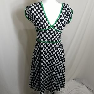 Taboo Polka Dot Dress with green accents